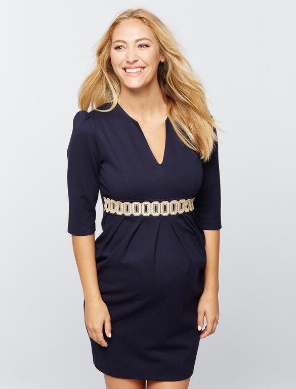 Madderson London Maternity Dress - Navy, Navy
