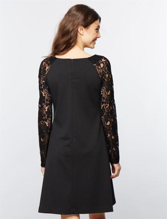 Pietro Brunelli Lace Maternity Dress, Black