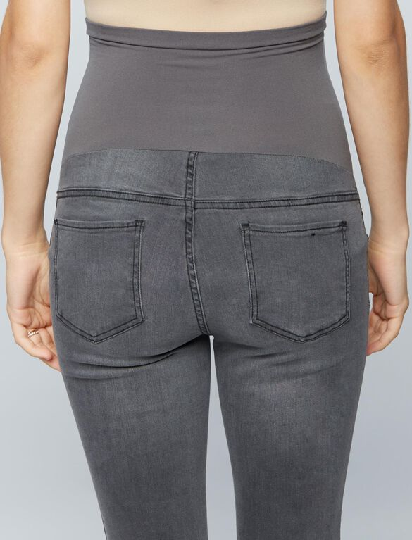 Luxe Essentials Denim Secret Fit Belly Maternity Jeggings, Steel Grey