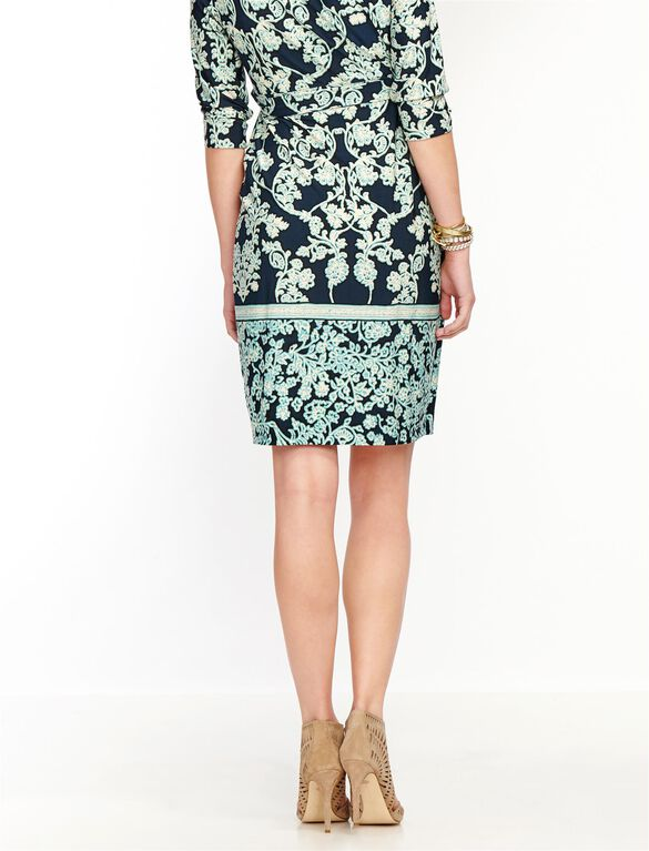 Paisley Print Maternity Dress, Green Paisley Print