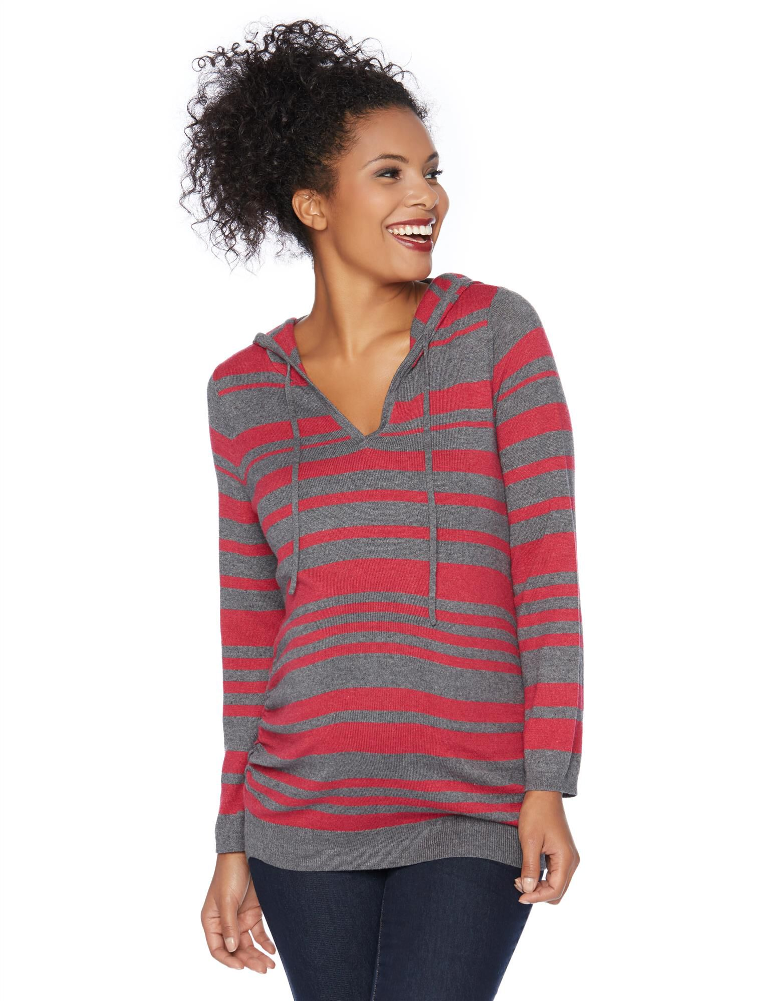 Hooded Pullover Maternity Sweater