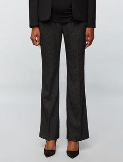 Secret Fit Belly Tweed Boot Cut Maternity Pants, Black