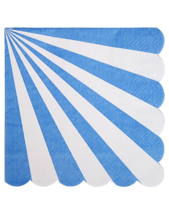 Meri Meri Striped Small Napkins, Blue Stripe