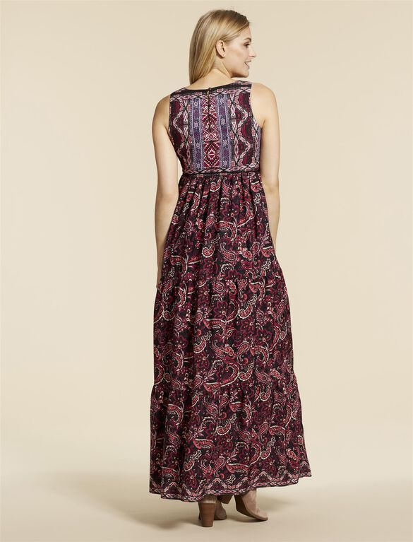 Jessica Simpson Tie Detail Maternity Dress, Multi Print