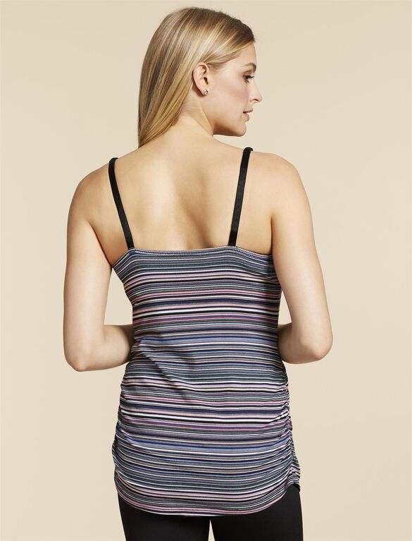 Jessica Simpson Clip Down Shelf Bra Nursing Cami- Stripe, Multi Stripe 1