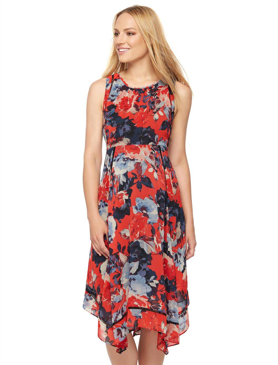 Taylor hanky hem maternity dress a pea in the pod maternity taylor hanky hem maternity dress multi print ombrellifo Gallery