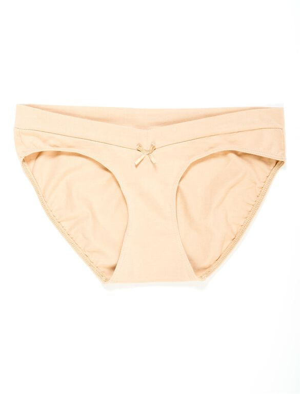 Bow Detail Hipster Maternity Panty (single), Nude