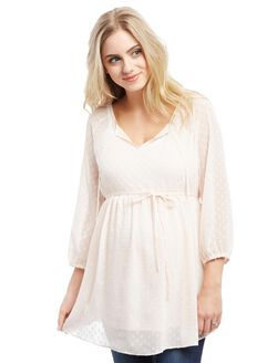 Raglan Sleeve Maternity Blouse, Pink