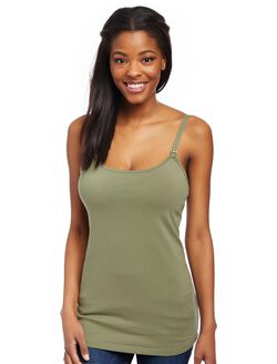 Clip Down Nursing Cami, Lichen Green