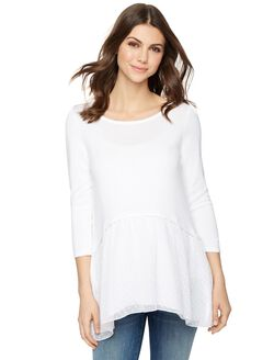 Design History Relaxed Maternity Sweater, White