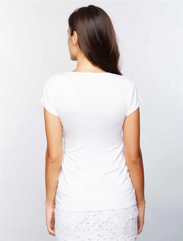 Envie De Fraise Fiona Short Sleeve Nursing Top, White