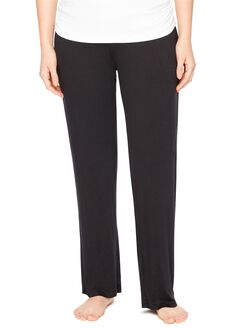 Bump In The Night Relaxed Fit Post Pregnancy Pants, Black