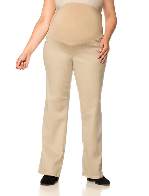 Plus Size Secret Fit Belly Boot Cut Maternity Pant, Khaki
