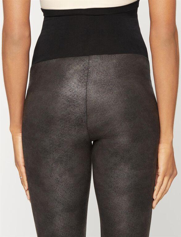 Pam and Gela Leather Maternity Leggings, Black