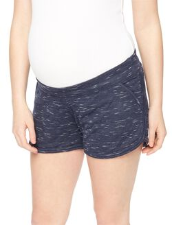 Under Belly Spacedye Maternity Shorts, Navy Space Dye