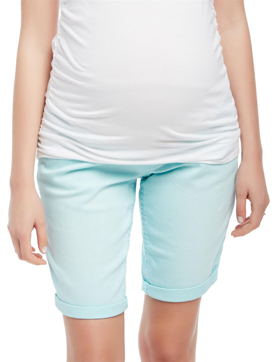 Secret Fit Belly Roll Hem Maternity Bermuda Shorts at Motherhood Maternity in Victor, NY | Tuggl