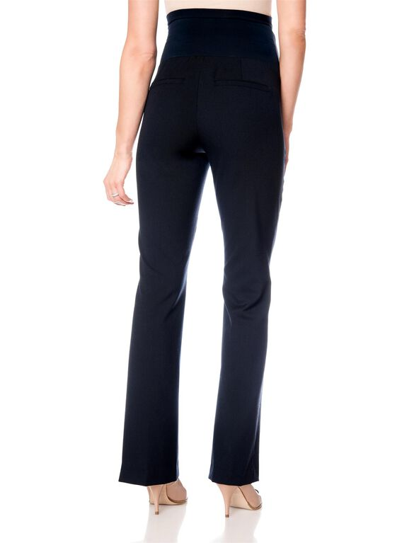Petite Secret Fit Belly Bi-stretch Suiting Boot Cut Maternity Pants, Navy