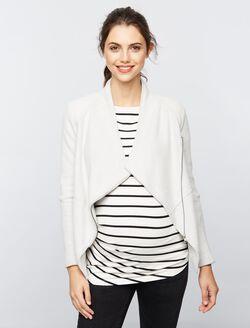 BB Dakota Open Front Fleece Maternity Jacket, Light-mid Grey