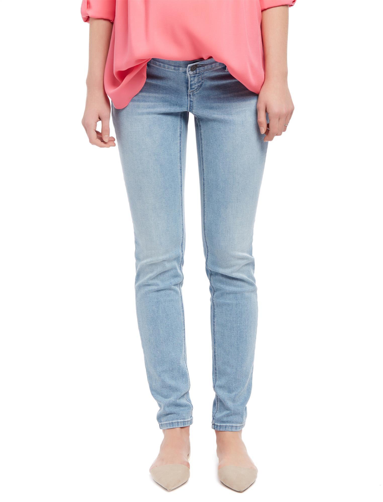 Side Panel Skinny Leg Maternity Jeans