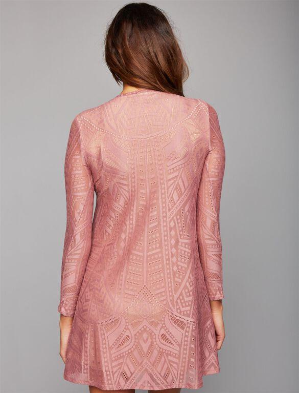 BCBGMAXAZRIA Lace Maternity Dress, Pink