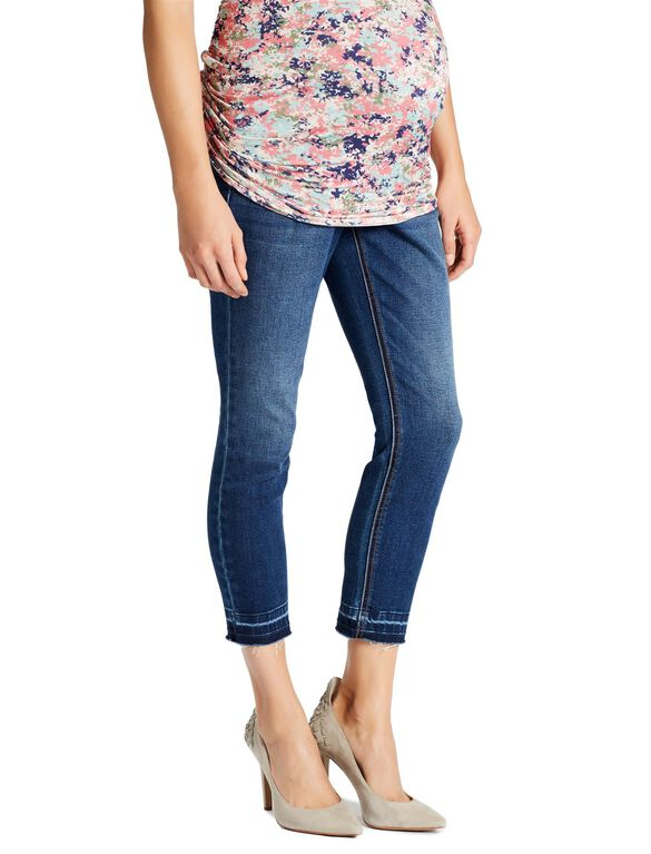 Jessica Simpson Secret Fit Belly Skinny Leg Maternity Crop Jeans, Jet Stream