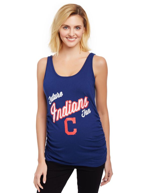 Cleveland Indians MLB Future Fan Maternity Tank, Indians Navy