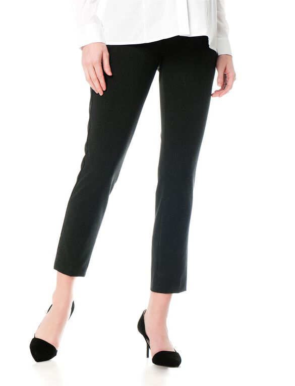 A Pea In The Pod Bi-stretch Suiting Bootcut Maternity Pants, Charcoal
