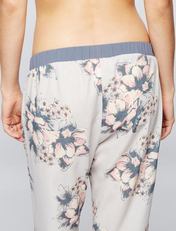 Pretty Soft Floral Maternity Sleep Pant, Floral Print