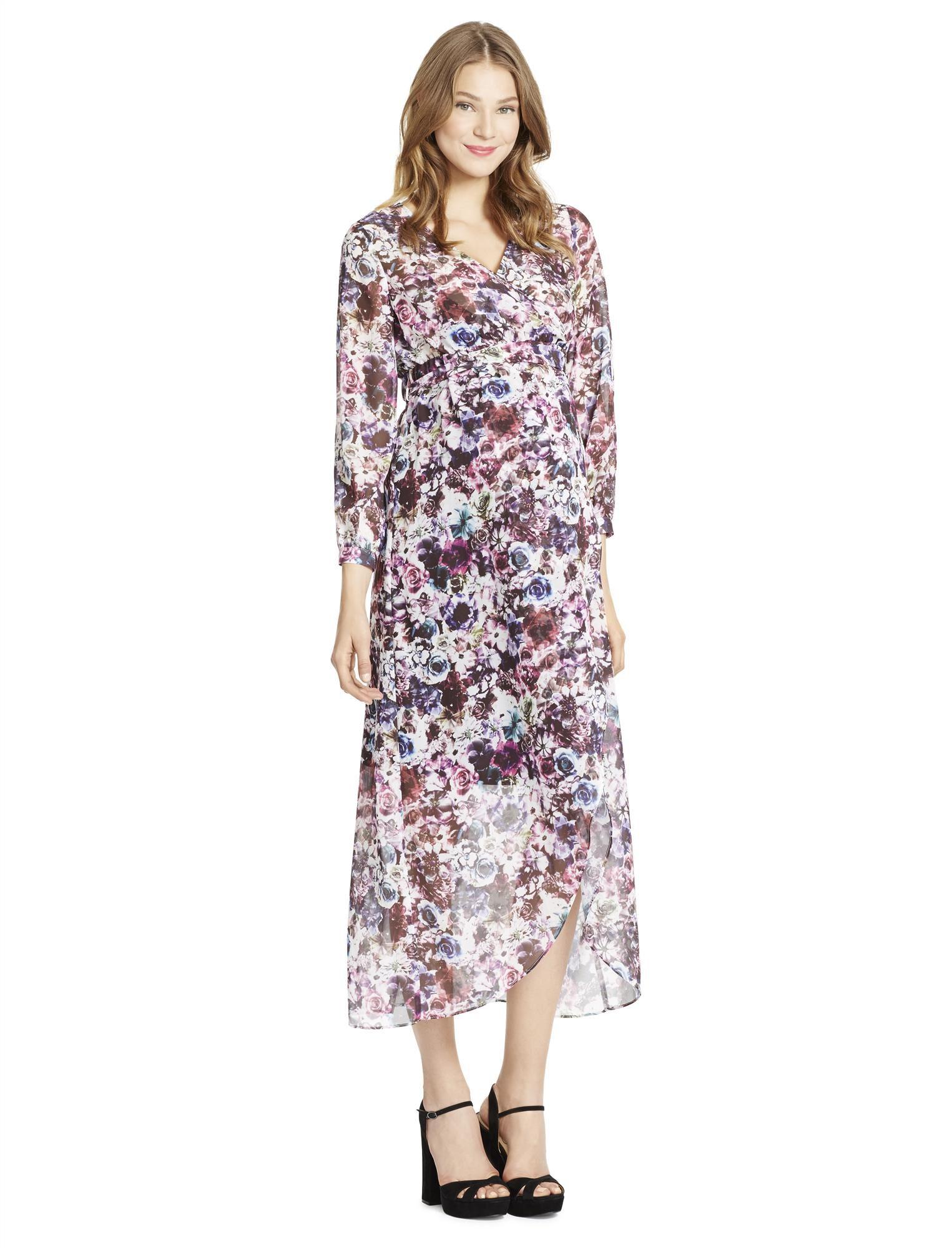 Jessica Simpson Faux Wrap Maternity Dress