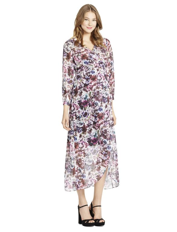 Jessica Simpson Faux Wrap Maternity Dress, Floral Print