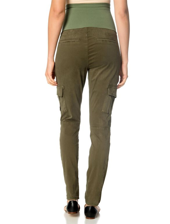 Secret Fit Belly Twill Skinny Leg Maternity Pants, Olive