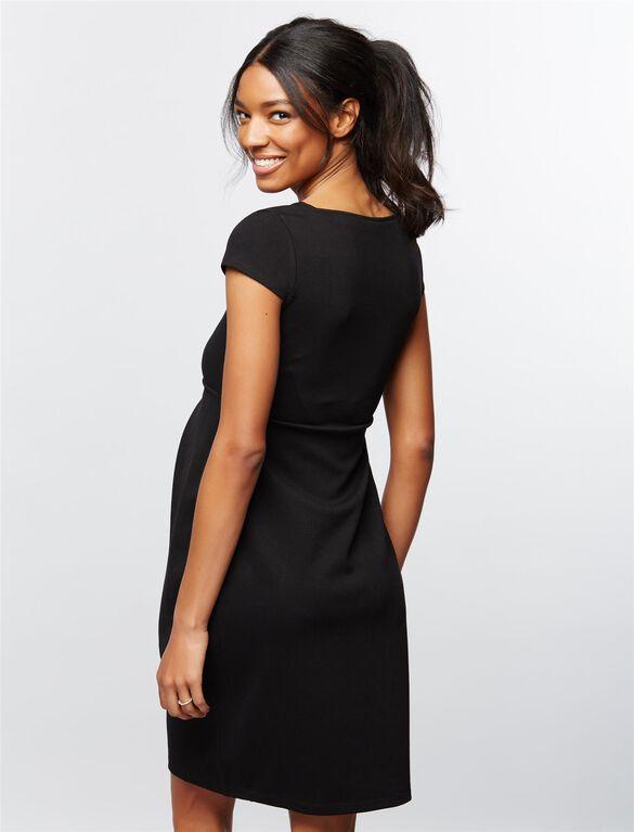 Isabella Oliver Farah Ponte Maternity Dress, Black