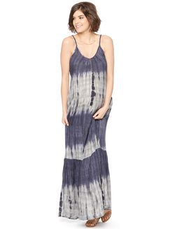 Wendy Bellissimo Tiered Maternity Maxi Dress, Tie Dye