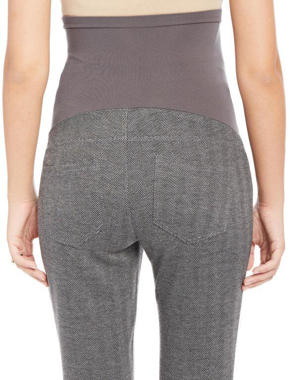 Secret Fit Belly Herringbone Maternity Pants, Grey