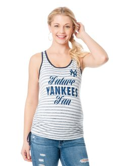 New York Yankees MLB Maternity Graphic Tank Top, Yankees