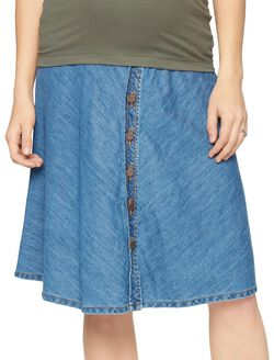 Secret Fit Belly Denim Maternity Skirt, Med Wash