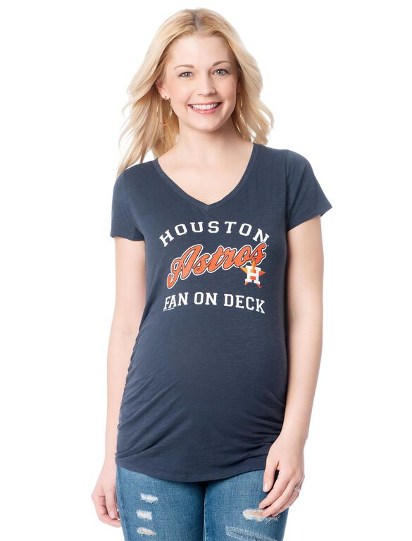 Houston Astros MLB Short Sleeve Maternity Graphic Tee, Astros
