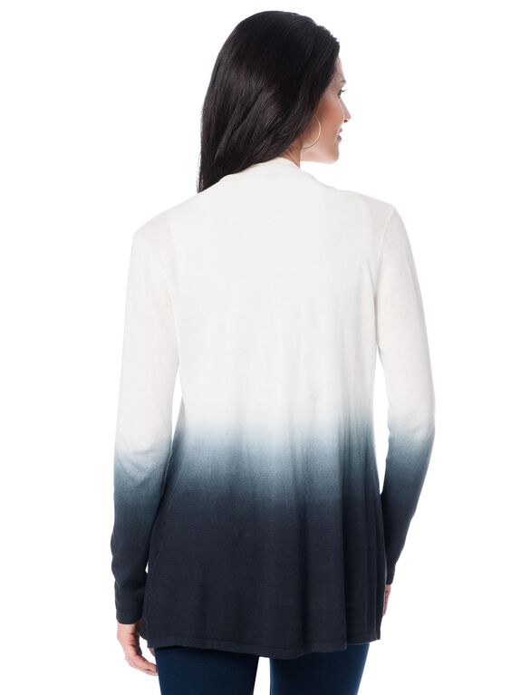 Design History Cascade Maternity Cardigan, Blue/White Ombre