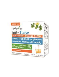 Upspring Milkflow Fenugreek Blessed Thistle Drink Mix, Citrus