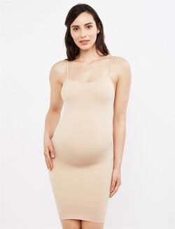 Seamless Compression Maternity Slip, Dark Nude