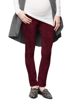Joe's Jeans Secret Fit Belly Skinny Leg Maternity Jeans, Burgundy