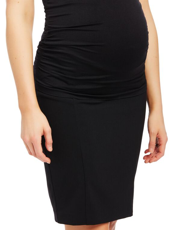Secret Fit Belly Pencil Fit Maternity Skirt, Black