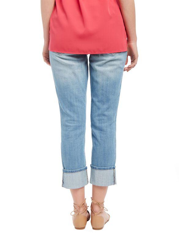 Secret Fit Belly Skinny Leg Maternity Crop Jeans, Light Wash