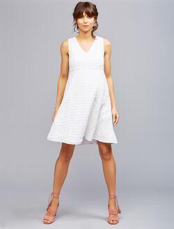 Lace Maternity Dress, White