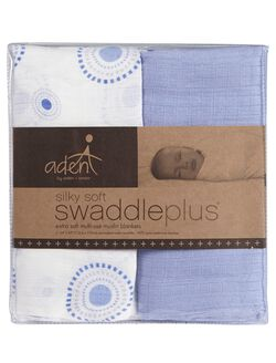 Aden By Aden + Anais Silky Soft Swaddle 2pk, Beau Print