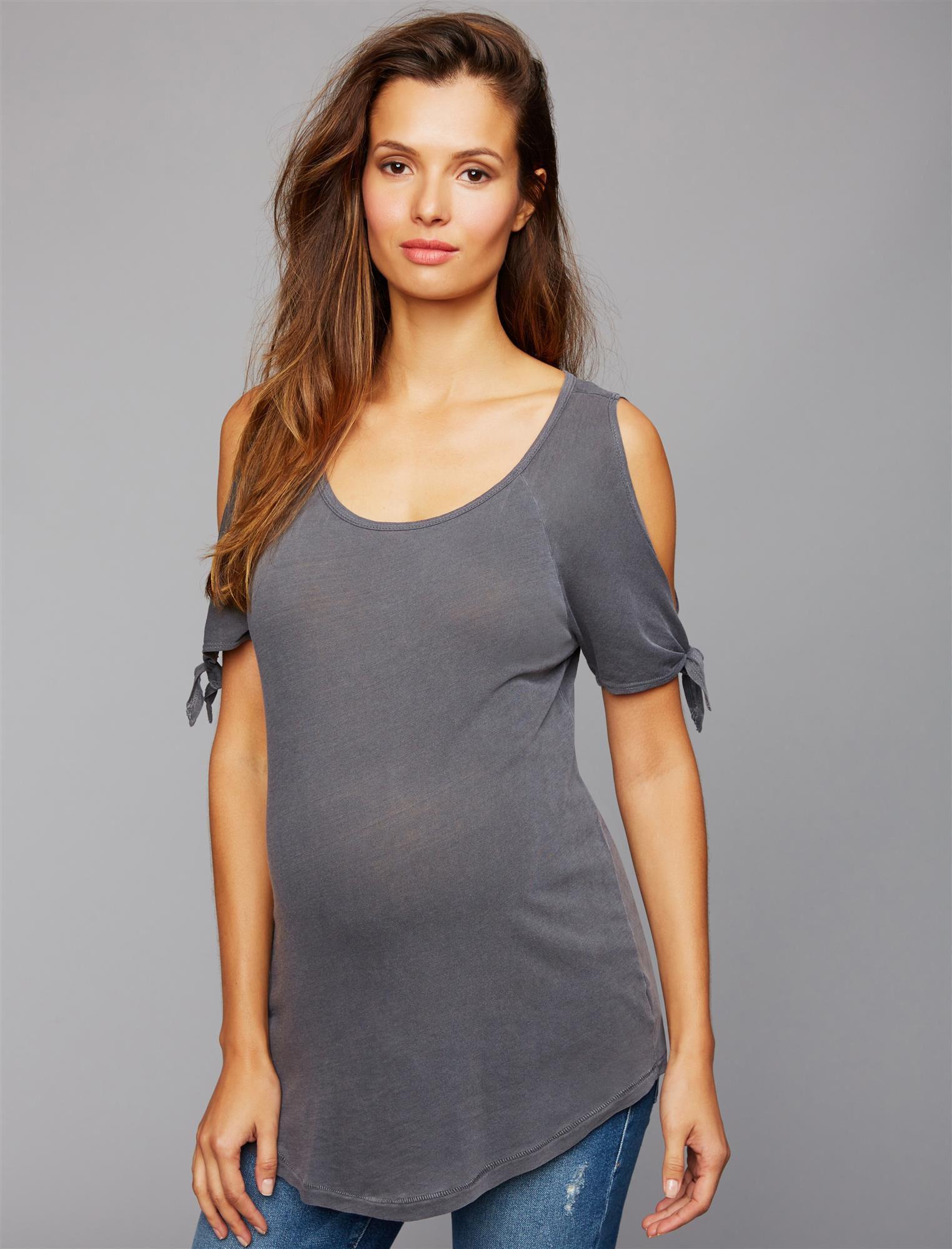 Splendid Cold Shoulder Maternity Top
