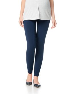 Secret Fit Belly French Terry Maternity Leggings, Navy