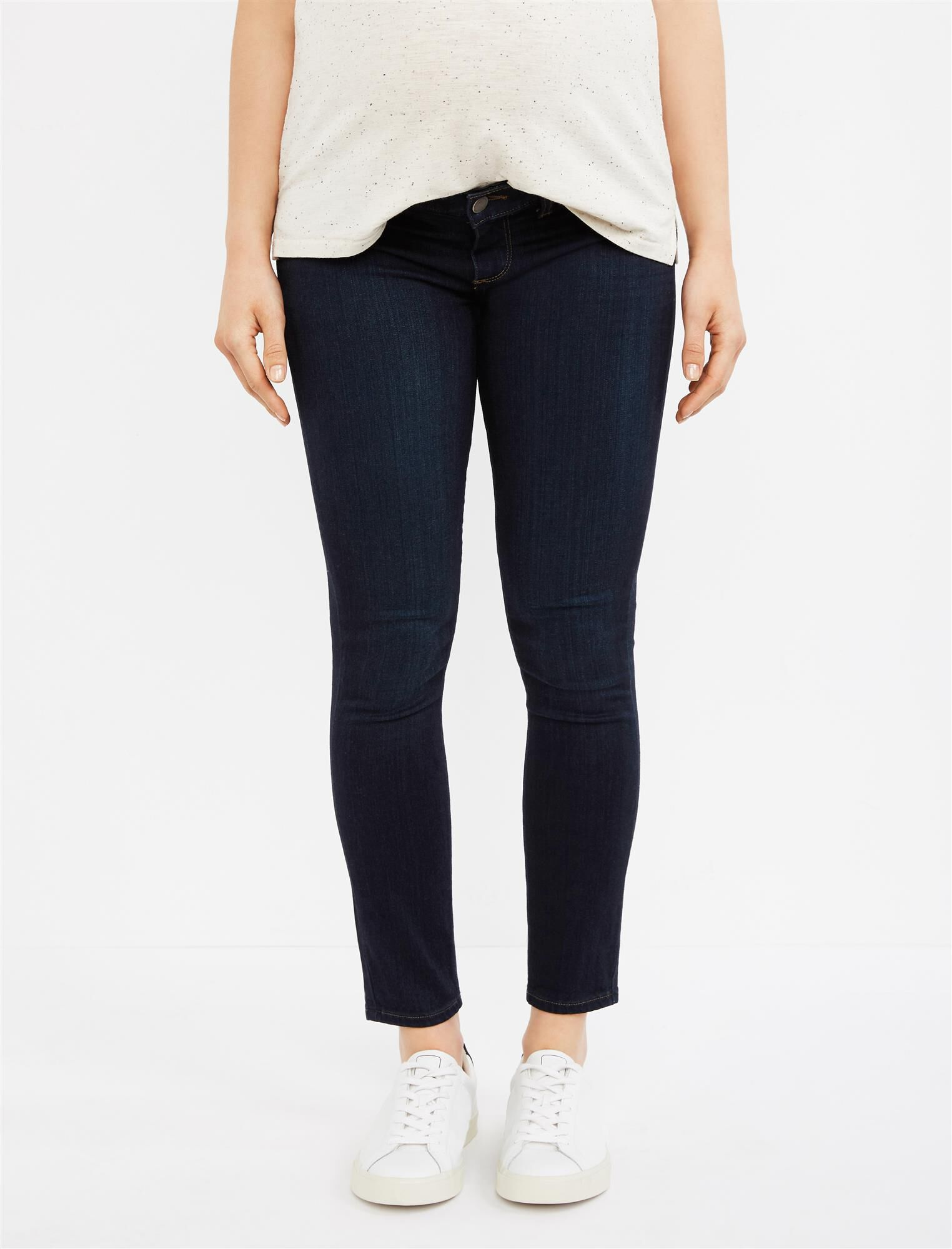 Paige Denim Under Belly Skinny Ankle Maternity Jeans