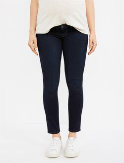 PAIGE Denim Under Belly Skinny Ankle Maternity Jeans, Dark Wash