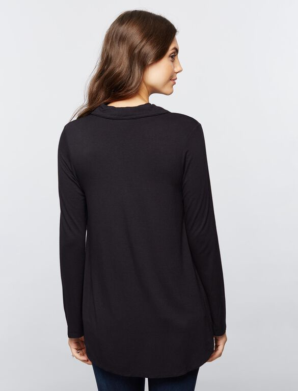 Lift Up High-low Hem Nursing Top, Core Black